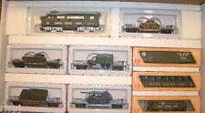 HO MILITARY US ARMY F-3 LOCO & 5 CARS W/LOADS TRAIN SET  US ARMY TRAIN SET  #8