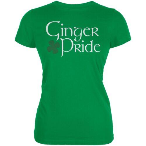 St Patrick/'s Day Ginger Pride Irish Green Juniors Soft T-Shirt