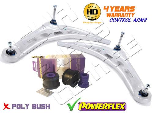 Pour bmw série 3 E46 avant meyle lower track control arm bras powerflex buissons