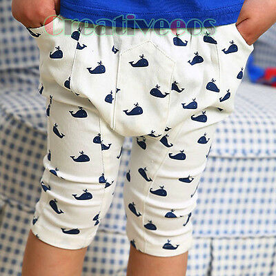 Trendy Kids Boys Dolphin Printed Trousers Toddlers Short Pants Costume 2-7 Years
