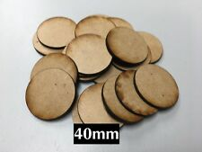 12 Oval 90x120mm MDF Miniature Bases 3mm Laser-cut Warhammer FREE SHIPPING