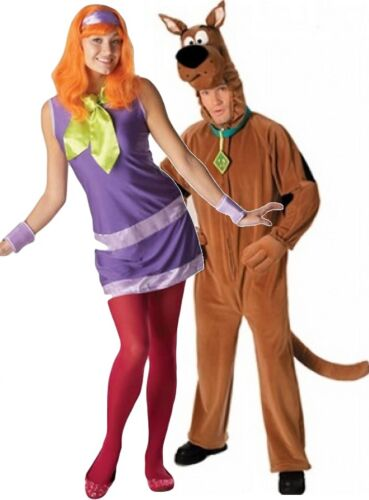 Couples Ladies AND Mens Scooby Doo 1960s Halloween Fancy Dress Costumes Outfits