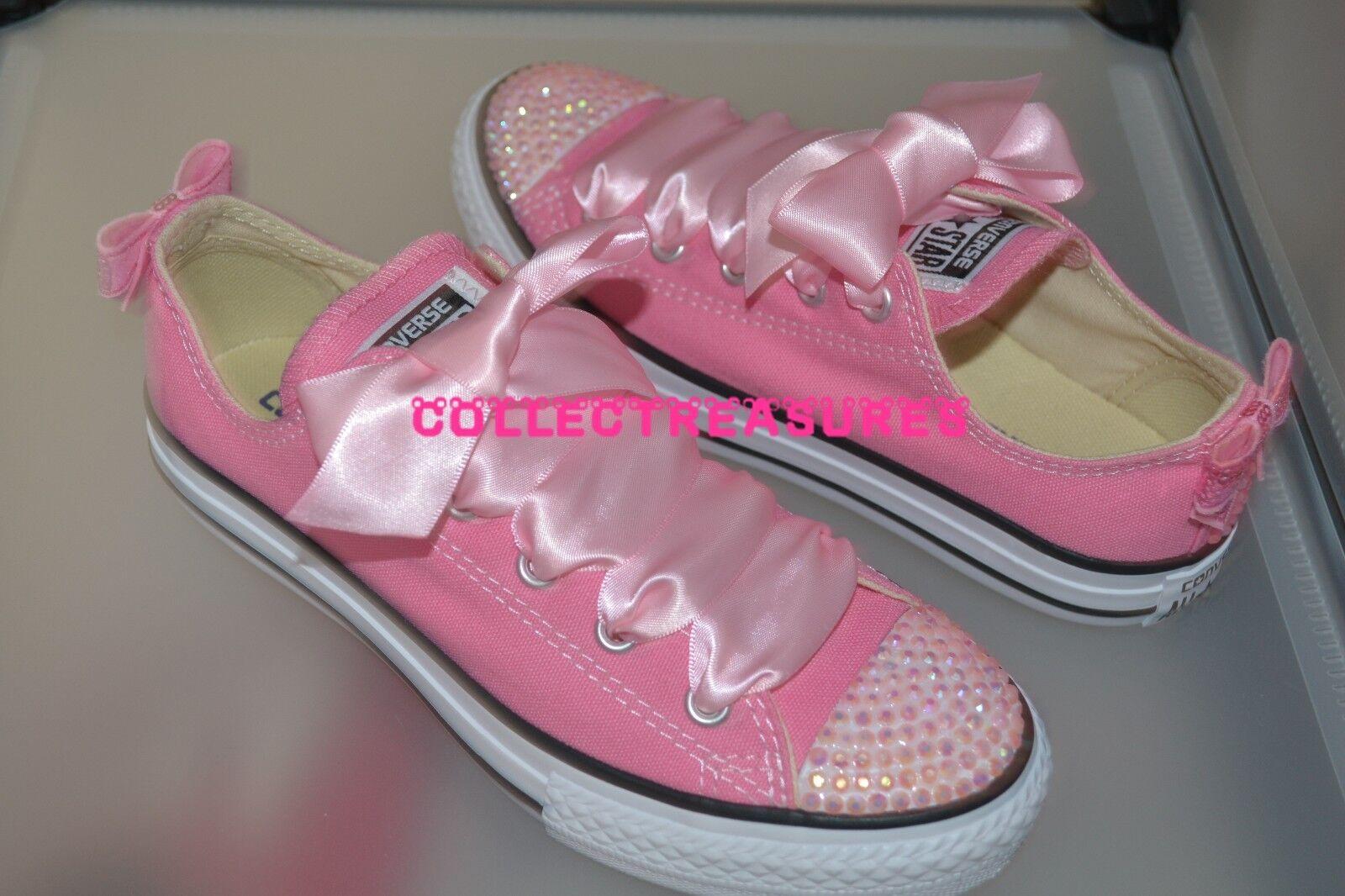 176cfe9946e ... discount custom cristal strass bling rose lo top converse baskets  baskets converse taille b8f0c5 2b5b3 6edb8