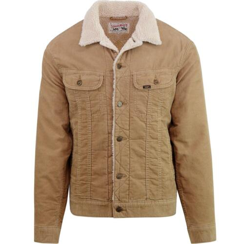 CAMEL MENS LEE RIDER NEAT REGULAR FIT CHUNKY SHERPA LINED CORD JACKET