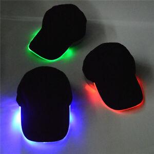 Image is loading Unisex-Adjustable-LED-Flashing-Baseball-Sport-Hat-Light- 50902a6c6e3