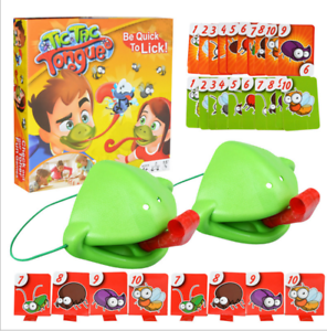 Tic Tac Tongue Chameleon Mask Bug Catch Quickdraw Game Kids Familynew Gifts