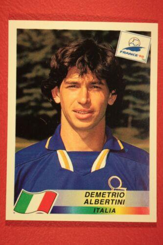 PANINI WC WM FRANCE 98 1998 N 94 ITALIA ALBERTINI WITH BLACK BACK MINT!!