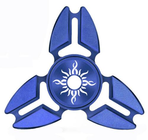 Fidget Spinner Tri-Spinner Aluminum Metal Tribal Sun