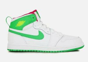 44342206c2d air jordan 1 retro high gp 705321 134 white gamma green-vivid pink ...