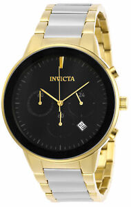 Invicta Men's Watch Specialty Chronograph Quartz Black Dial TT Bracelet 29478
