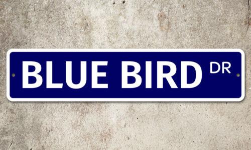 """5308 SS Blue Bird 4/"""" x 18/"""" Novelty Street Sign Aluminum"""