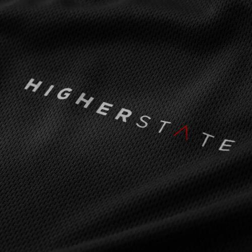noir Sport Higher State Homme À Encolure Ras-du-cou à manches longues Running Top 2.0