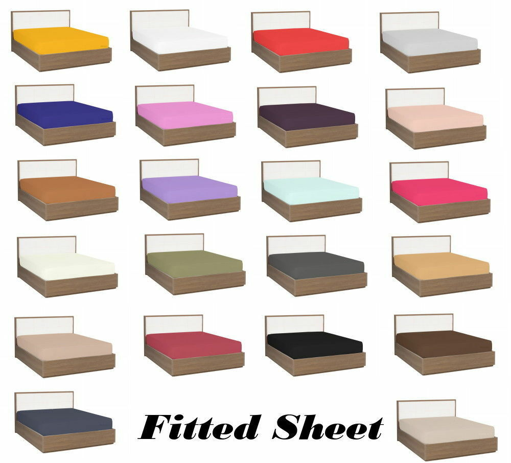 Fitted sheet RV Queen 58x75 Size All color 1000 TC New Egyptian Cotton