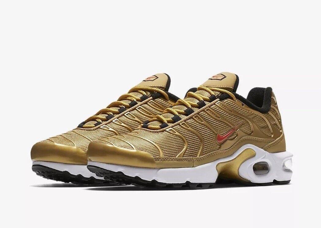 Nike Air Max Plus TN SE BG AR0259-700 Metallic Gold Größe UK 3.5 EU 36 US 4Y New
