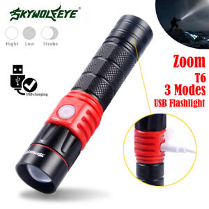 USB-Rechargeable-T6-3-Modes-LED-18650-Portable-Bright-Flashlight-Torch