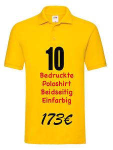 Ihrem Logo Beidseitig druck|Flexdruck| Poloshirt bedrucken,nach Ihrem Wunsch