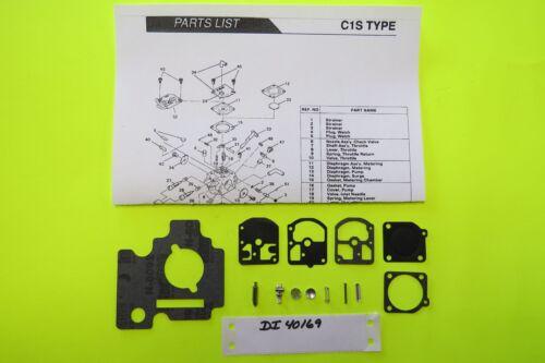 Homelite Chain Saw 330 Zama C1S-H3 C1S-H7 Carburetor   RB-3 Carb Kit New