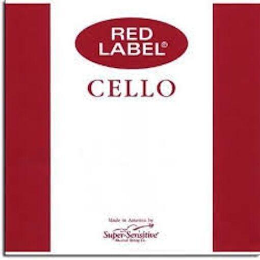 4 4 rot Label Medium Cello String Medium Set