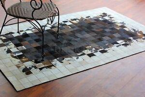 bunkar-039-s-Handmade-Natural-Cowhide-Leather-Luxurious-Area-Rugs-Style-039-Salvo-039