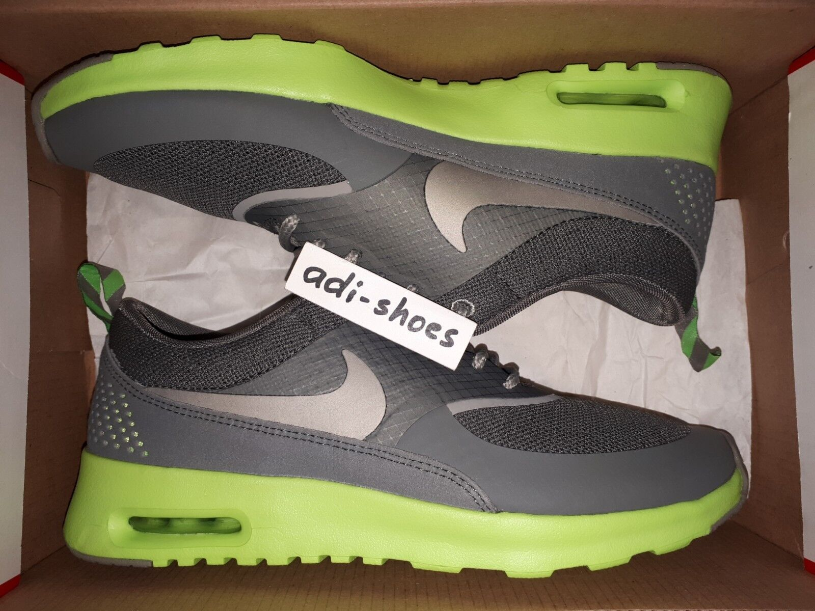 2013 Nike Air Max Thea grigio  Flash Lime  US 7 -9 LotC 59409 -004 Flyed Premium 1  incredibili sconti