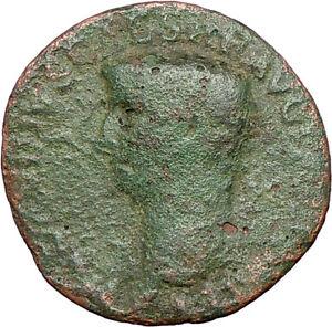 CLAUDIUS 50AD Libertas Liberty Large Ancient Roman Coin Rome
