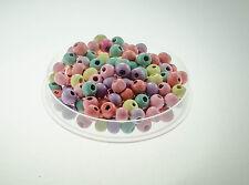 40 perles en bois 8mm couleur pastel 8 mm perle bijoux bracelet collier