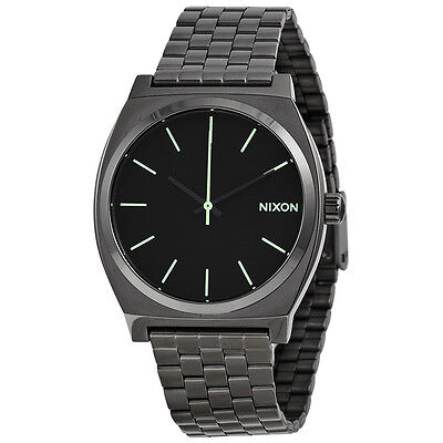 Nixon Time Teller Black Dial Gunmetal Ion-plated Mens Watch A0451885