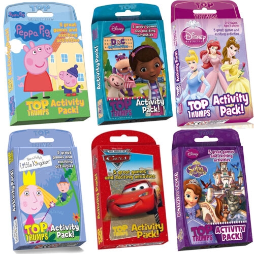 CHOOSE YOURS! HOURS OF FUN /& LEARNING IN EACH PACK TOP TRUMPS ACTIVITY PACK