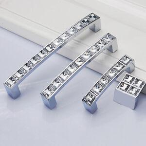 128mm diamond kitchen cabinet handles crystal dresser drawer wardrobe pull