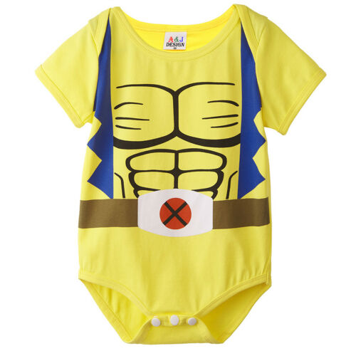 Body baby Supereroi Deadpool,Wolverine,hulk