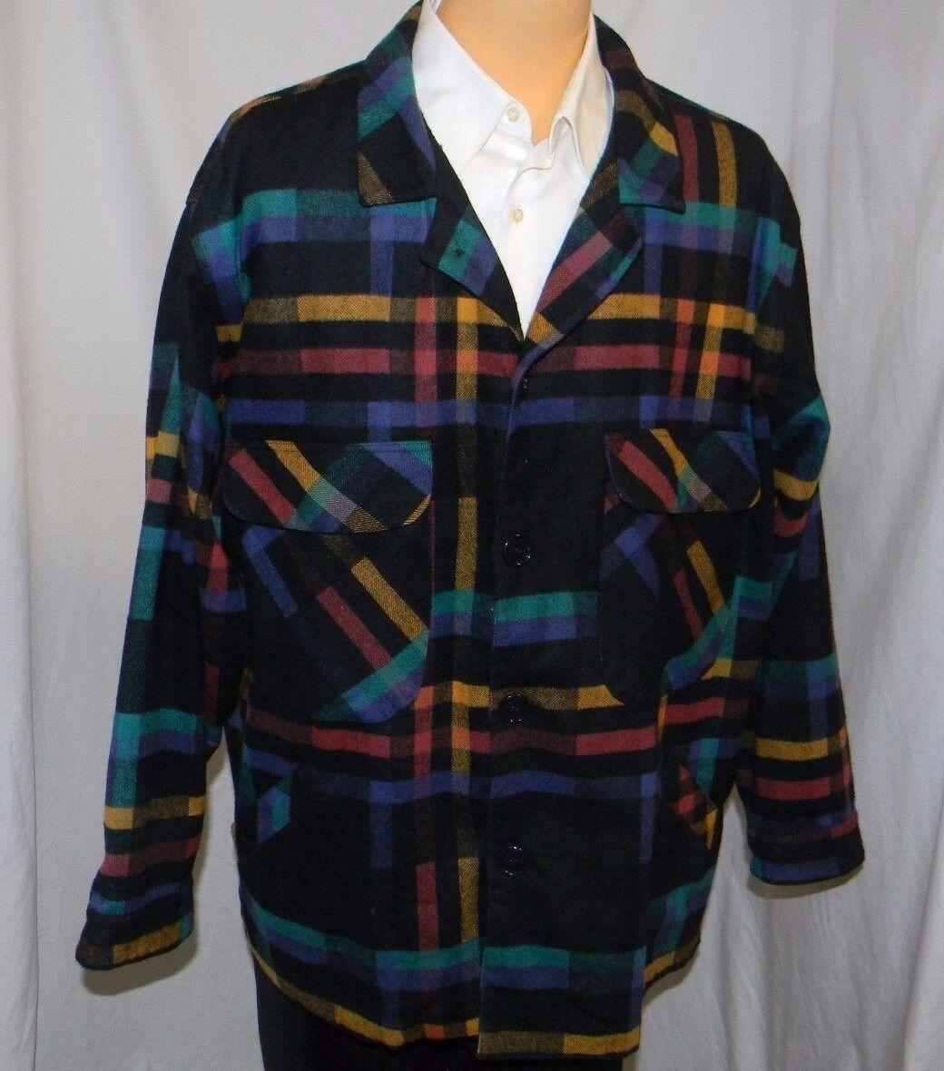 TDD at Format Wool Nylon Cashmere Flannel Blazer Sport Shirt USA 3XL XXXL