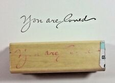 You Are Loved Rubber Stamp TA-IS-5605 Uptown Rubber Stamps