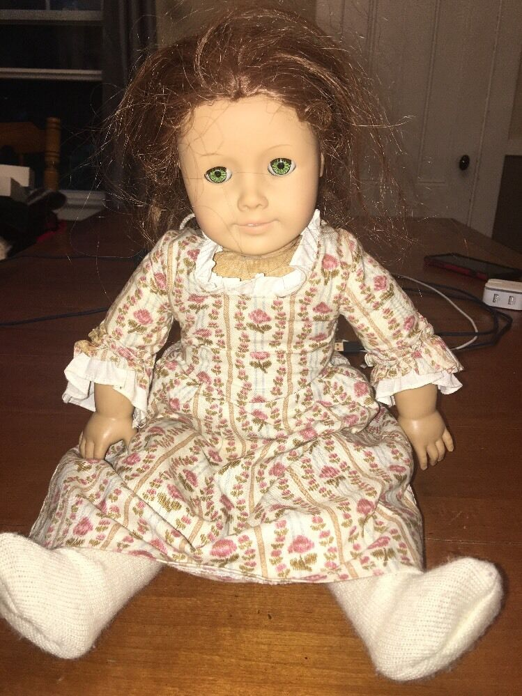 18  American Girl Doll Felicity Pleasant Company Meet Dress rot Hair Retirot +