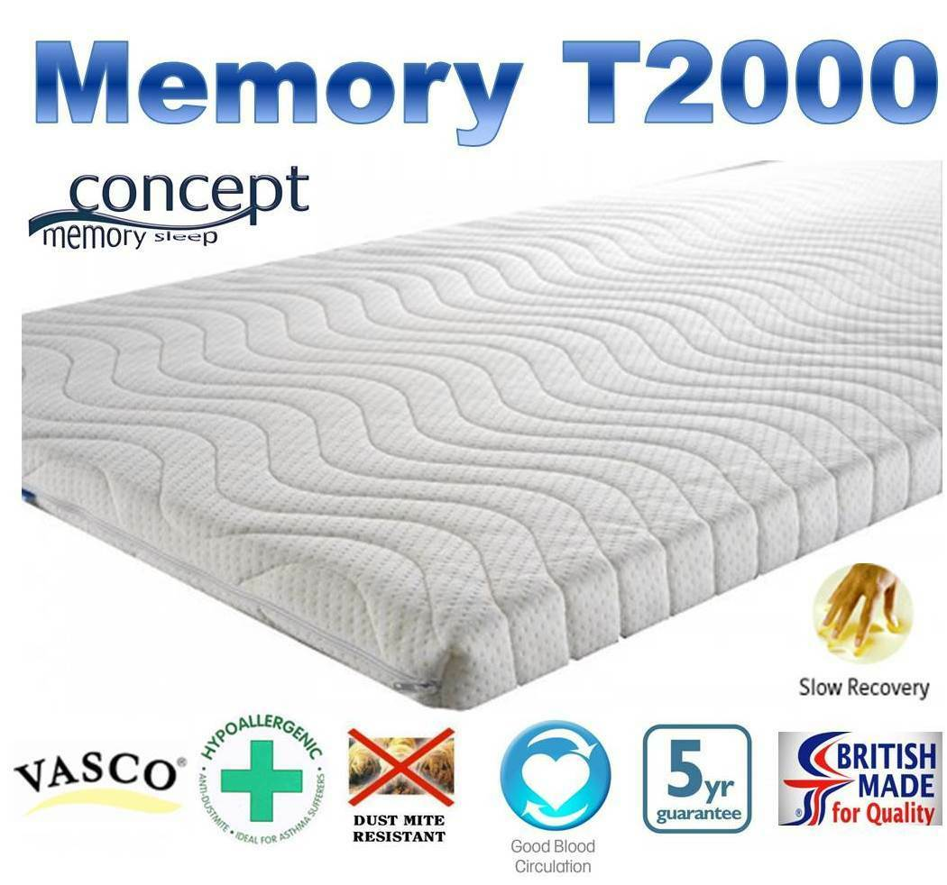 Memory T2000 Memory Foam Topper 5cm (2 )