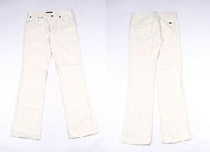 Nudie Slim Jim Blanc Jeans Jambe Droite Hommes Jean W32 L34