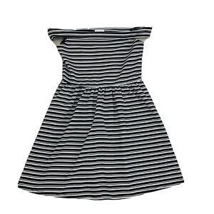 Mango-Womens-Size-16-Stretch-Plus-Size-Black-and-White-Stripe-A-Line-Dress