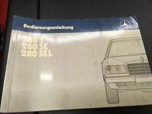 Original Betriebsanleitung Mercedes-Benz W126 260SE/300SE/300SEL ...