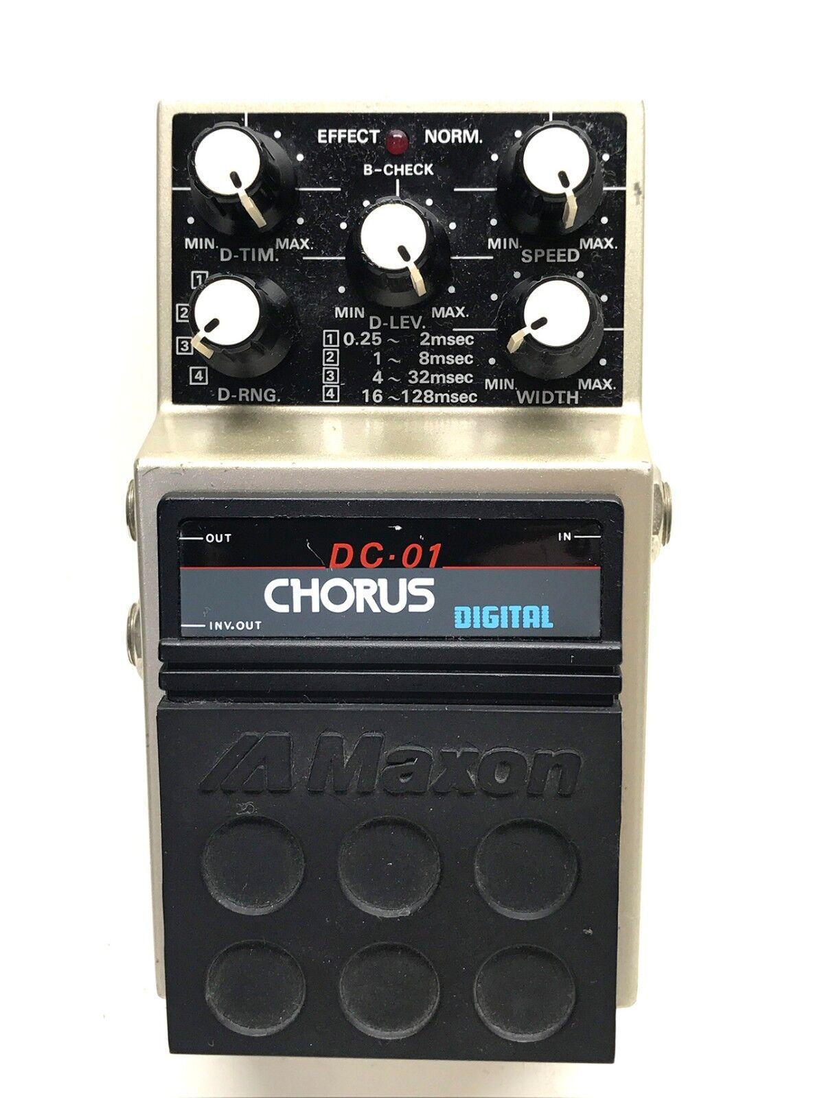 Maxon DC-01, Digital Chorus, Made In Japan, 1980's, Guitar Effect Pedal
