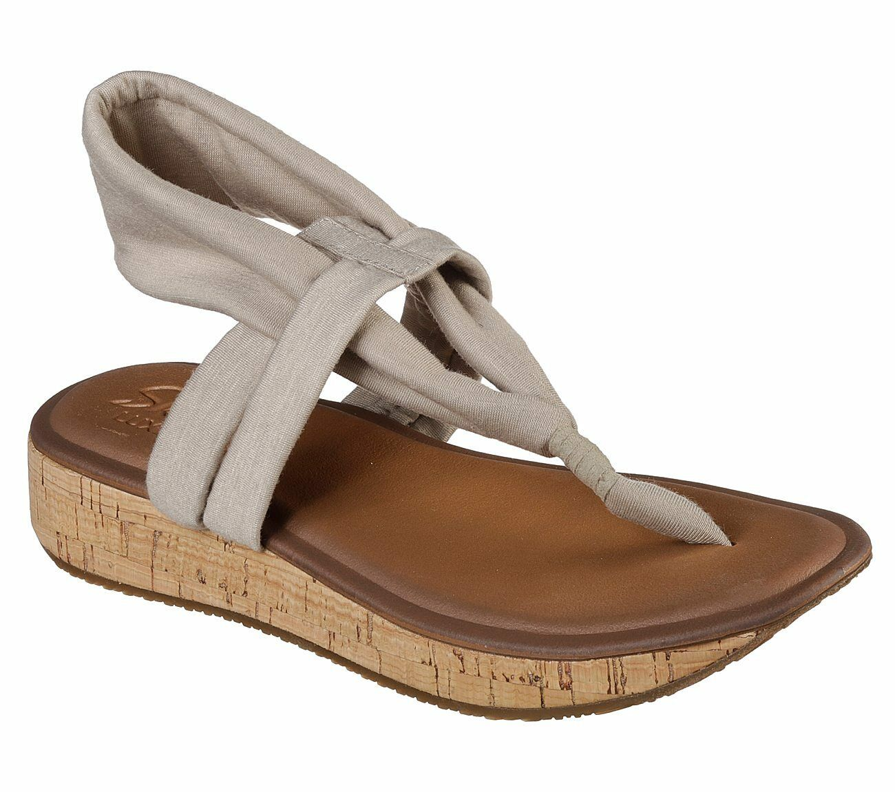 NEW SKECHERS Women's FOOTSTEPS - (Taupe) JAM BAND Sandal (Taupe) - 5e56e0
