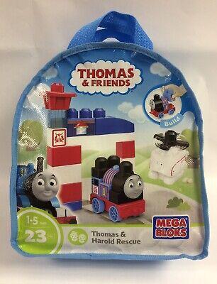 Mega Bloks DXH55 Thomas and Harold Rescue Construction Blocks Bag