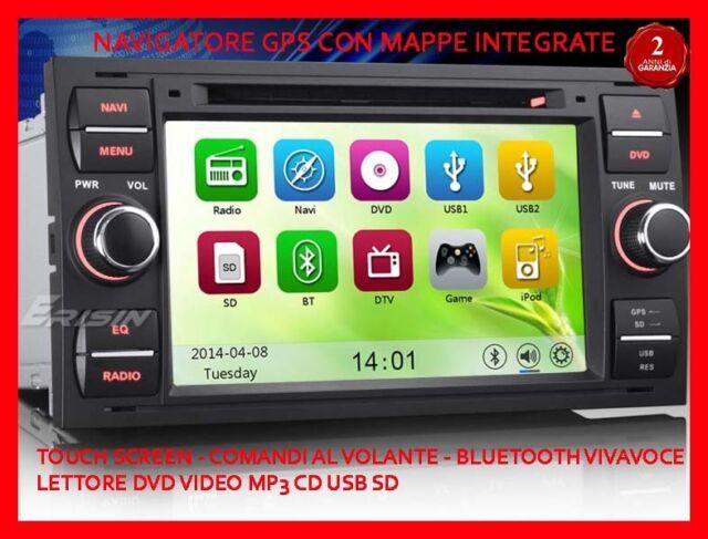 "AUTORADIO 7"" Ford Kuga Fiesta C-max Mondeo navigatore gps Comandi vol. Bluetooth"