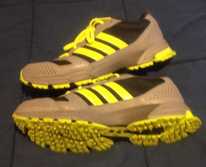 Adidas Marathon Volt -- Size 11 - Volt Marathon Yellow / Blue Mens Running Shoes -- NICE!!! 3679ee