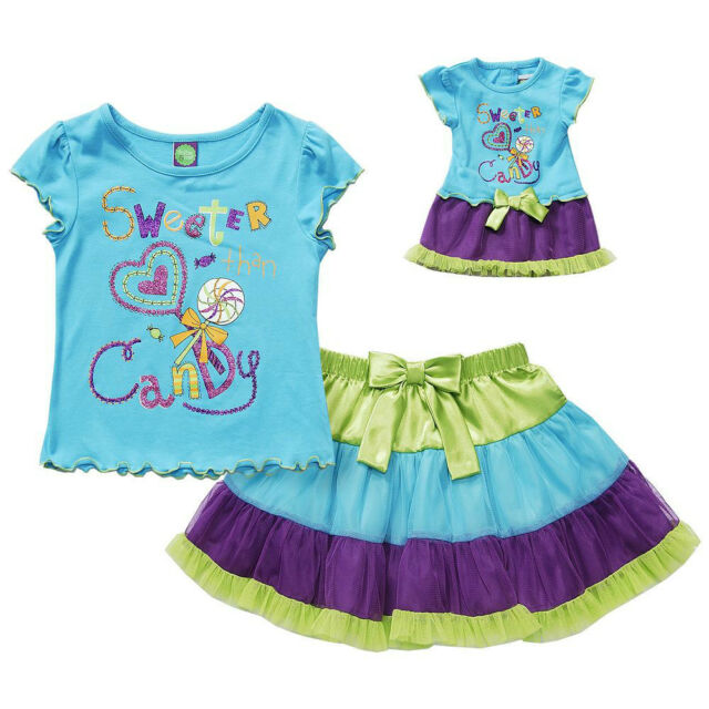 """Dollie and Me 7 8 10 12 gril & 18"""" doll matching outfit set fit american girl"""