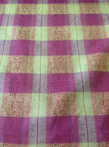 Curtain Fabric Designer Upholstery Voyage Austen Green And Purple By The Metre