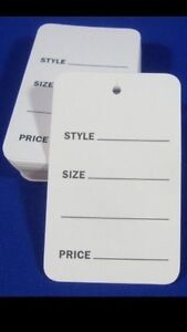 Image Is Loading 1000 Pcs Small White Unstrung Garment Merchandise Price