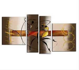 Quadri dipinti a mano su tela moderni ballerini quadro per for Quadri per salotto moderno