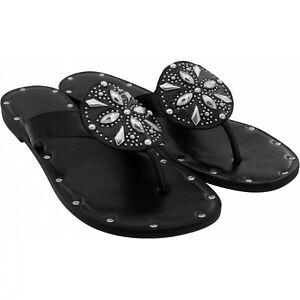 f13c384ad New In Box Brighton Pretty Glam ALANIS Black Leather Thong Sandals ...