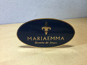 Used Design Jewelry Exposant Plate Plaque Mariaemma For Collectors