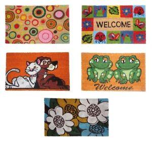 ZERBINO-RETTANGOLARE-COCCO-GOMMA-tappeto-tappeti-esterno-Welcome-cane-gatto-rane