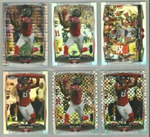 Atlanta-Falcons-6-card-2014-Topps-Chrome-REFRACTORS-XFRACTORS-lot-all-different